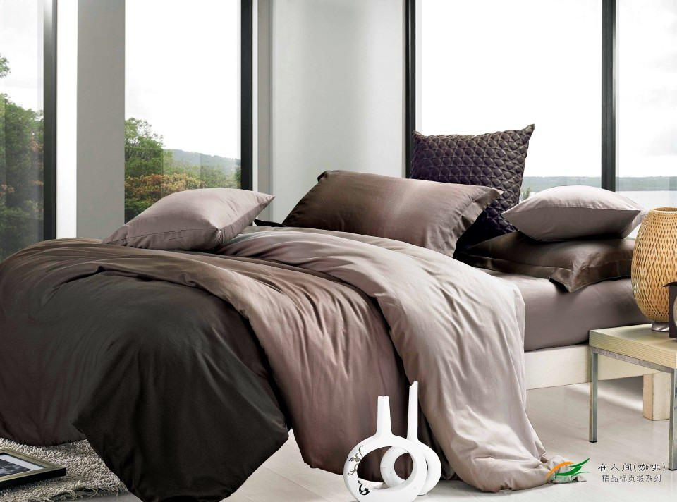 Gradient Brown Coffee Bedding Set King Size Queen Duvet