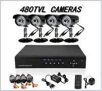 dvr güvenlik kamera sistemi açıkhdd toptan satış-4 CH CCTV Güvenlik Kameraları DVR Sistemi için 4ch Kiti DIY CCTV Sistemleri Açık 500 GB HDD ile H011