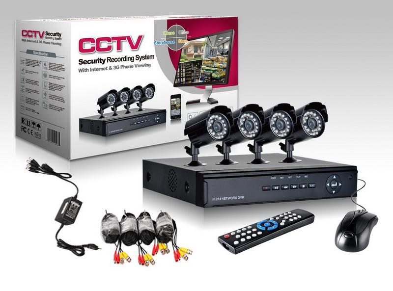 4 CH CCTV Güvenlik Kameraları DVR Sistemi için 4ch Kiti DIY CCTV Sistemleri Açık 500 GB HDD ile H011