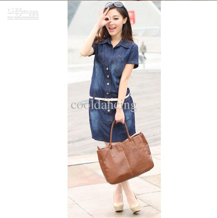 Full Size S To Xxxxl Denim Dress For WomenFashion Denim Dress ...