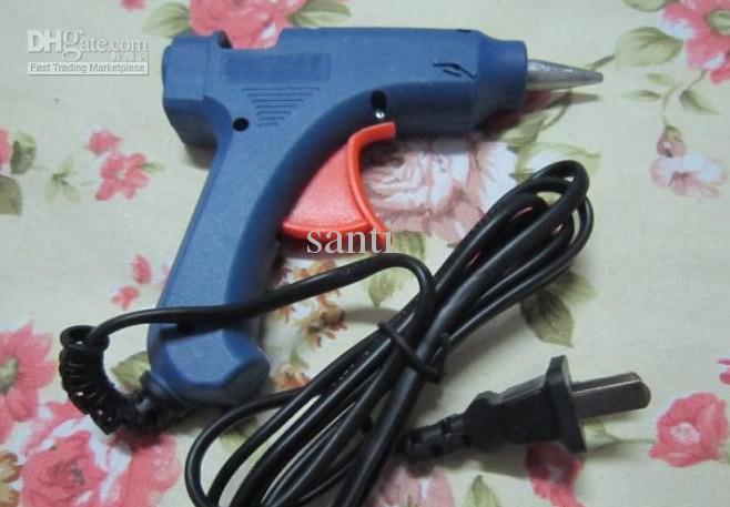 Горячий расплав клей пистолет ремесла инструмент D7mm США в ЕС адаптер 20 Вт 100 240V мини электрический триггер