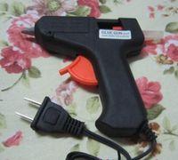 Wholesale Electric Hot Glue Gun - New Arrive 20W Electric Glue Gun Heating Hot Melt Glue Gun Crafts Album Repair D7mm