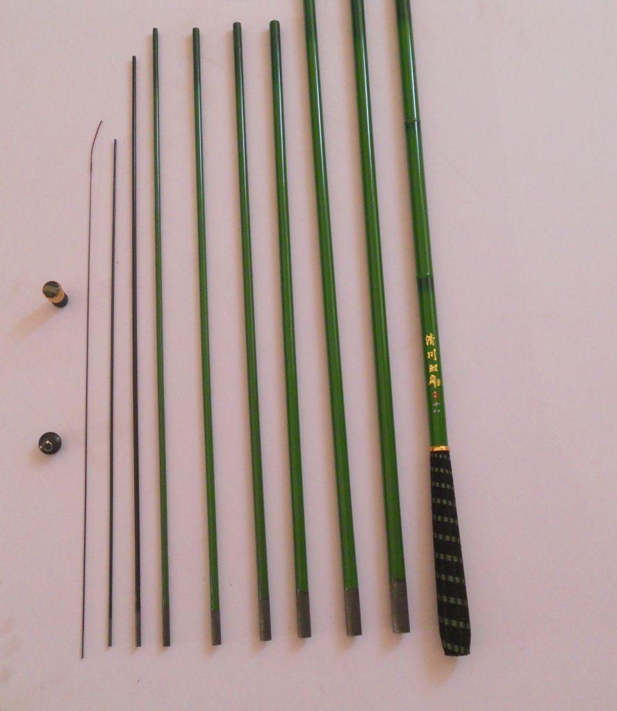 3.6-7.2m colore carbon acqua dolce di bambù piccole carpe canna da pesca