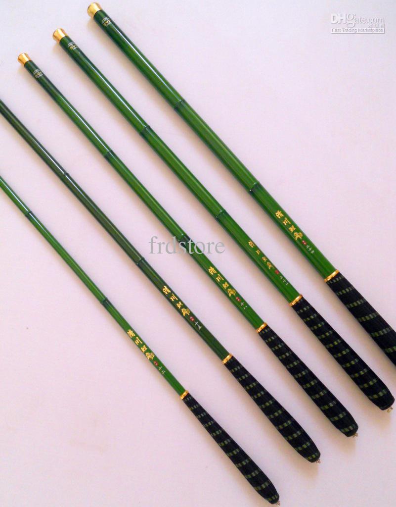 3.6-7.2m bambú agua dulce de color carbono carpa pequeña caña de pescar