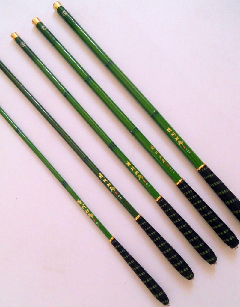 3.6-7.2m Verse water bamboe kleur carbon kleine karper hengel