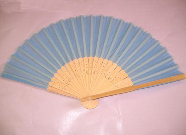 Plain Color Hand Fans DIY Program Fan Chinese Silk Folding Fans Decorative Gift Fan Free