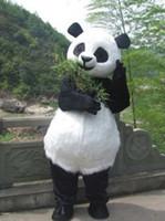 panda fantasia vestido adulto venda por atacado-PANDA BEAR Mascot Costume Fancy Party Dress Adulto Tamanho Suit + Frete Grátis