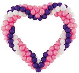 Canada 300 Pcs Forme Ronde Ballons En Latex Décoration De Partie Rose Blanc Violet Ballon Offre