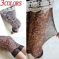 Wholesale Leopard Hot Pants - Fashion leggins!3color Lady's summer Leopard graffiti Shorts Leggings Hot Under leggings Pants