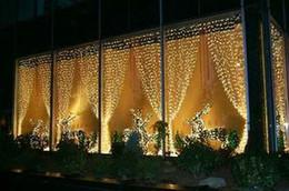 Canada Lumières de rideau en 800 ampoules de 8m * 3m d'ampoules, lumières d'ornement imperméables de Noël, lumière colorée de mariage instantané, bandes de bande légères de la lumière LED allumant Offre