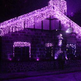 Canada 192 LED ampoules 8m * 0.55 ~ 0.65m lumières de rideau, lampe de bar de glace de Noël, lumières de fée weddind glaçon led bandes d'éclairage de bande de lumière led imperméables Offre