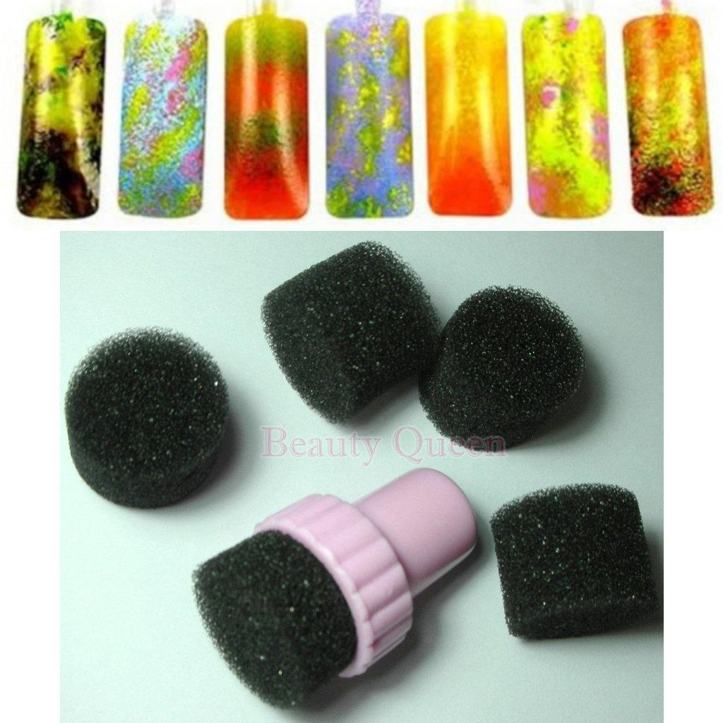 Newest Nail Art Sponge Kit DIY Rainbow Nail Art Stamp Stamping Set - Makeup artist invoice template free online vapor store