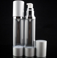 Wholesale Wholesale Cleansing Supplies - 50ml Refillable Empty Pump Makeup Bottle Portable Face Cream Bottle Jars Cosmetic Container Skin Care Tools Accessories Travel Supplies 10pc