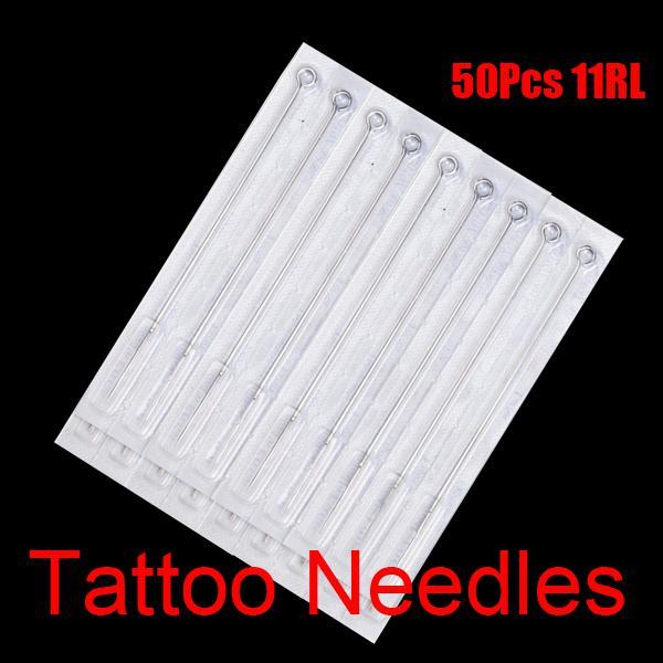 11RL Agulhas de Tatuagem Estéril Descartável 11 Forro Rodada Para Tatuagem Gun Tampas De Tinta Copos Kits
