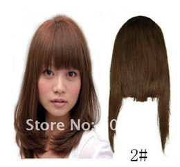 Wholesale Ship Hair Clip Bangs - #02 Human Hair Extension Clips in Bang Hair Side Fringes many color free shipping