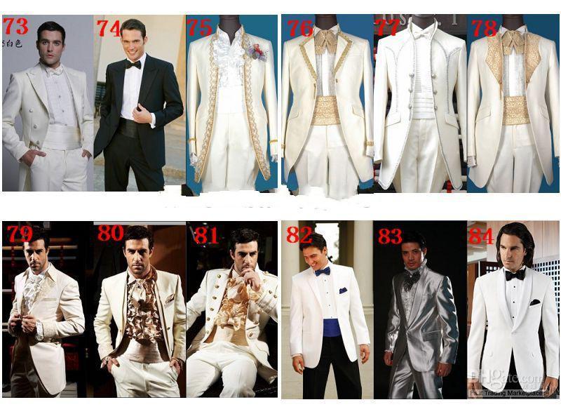 Diseño personalizado Tailcoat rojo novio esmoquin solapa en pico Mejor vestido de boda de los hombres Prom traje de vacaciones por encargo Chaqueta + pantalones + tie + chaleco 830