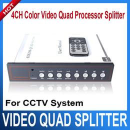 Wholesale Color Video Quad Splitter - 4CH Color Video Quad Splitter Processor for CCTV System
