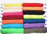 Wholesale big size fashion scarf for sale - Group buy Big size Solid Plain Fashion Voile Scarf Women Wrap Shawl Bandelet Muffler Neckerchief Scarves