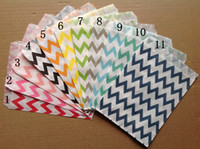 "Wholesale Paper Food - 5""*7"" 600pcs Wedding Chevron Dot Stripe Favor Bags Candy Paper Goods Bag kraft bags (25pcs opp bag)"