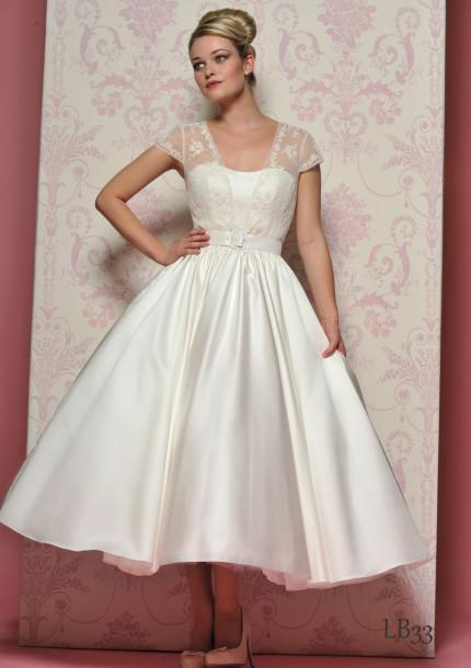bb6a1b3878c9 Cheap Cap Sleeve Lace Ball Gown Wedding Dresses 2013 Applique Tea Length  Satin Custom Made LB33 Elegant Wedding Dresses Floor Length Dresses From  Bestdavid, ...