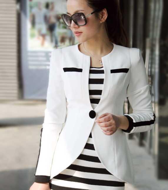 2013 Plus Size Women Slim Fashion Shrug Blazer Jacket Coat Cbj ...