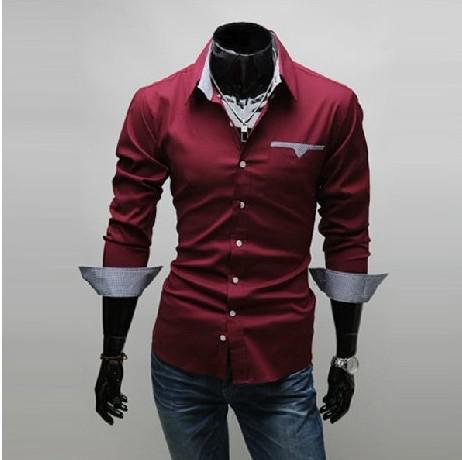 Best New Mens Shirts Casual Slim Fit Stylish Dress Shirts Men Long ...