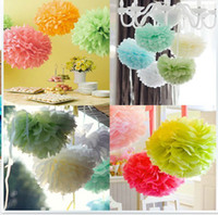 Wholesale Chinese Paper Balls - Hot New Wedding Decorations Colored paper flower ball wedding marriage room baby room holiday party decoration 565