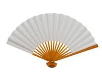 "Wholesale Fan Blank Paper - Blank White Paper Folding Hand Fans Students Child DIY Fine Art Painting Practice Programs Fan 8"" 10pcs lot Free shipping"
