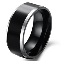 Wholesale Tungsten Couples Wedding Rings - Beautiful black Men's Tungsten Ring!Men's Rings!For couples or Christmas gift!