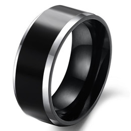 black tungsten engagement rings 2019 - Beautiful black Men's Tungsten Ring!Men's Rings!For couples or Christmas gift! cheap black tungsten engagement rings