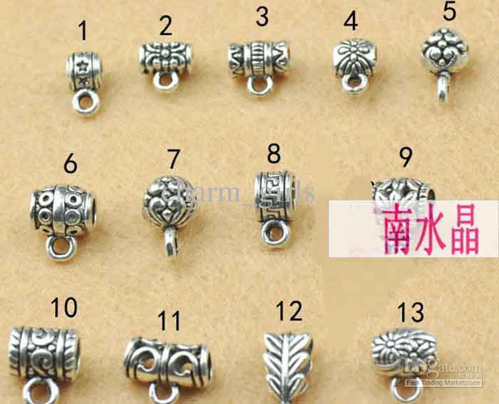 * DIY acessórios de jóias fivela de prata tibetana fivela / anel fecho pulseira colar fecho