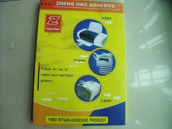 top popular 100 Sheets A4 labels for use of copier,laser ,inkjet printers variety of styles optional 2021