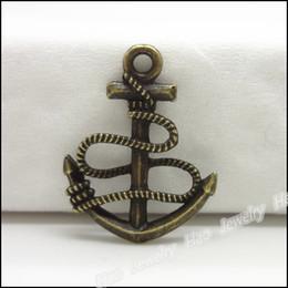 vintage bronze anker charme Rabatt Weinlese-Charme Anker 23x18mm hängende antike Bronze passten Armband-Halskette DIY Schmuck 180pcs
