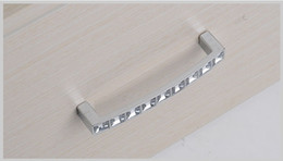 Wholesale Ship Cupboard - Free shipping 2 pcs crystal Cabinet Handle Ambry Drawer Cupboard Door Knob christmas gift