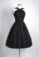 Wholesale Lace Wedding Gown Asymmetrical - 2016 Elegant Concise Black Short Wedding Dresses Chiffon A Line Asymmetrical Neckline Pleated Ruffed Bodice Dresses Bridal Gowns