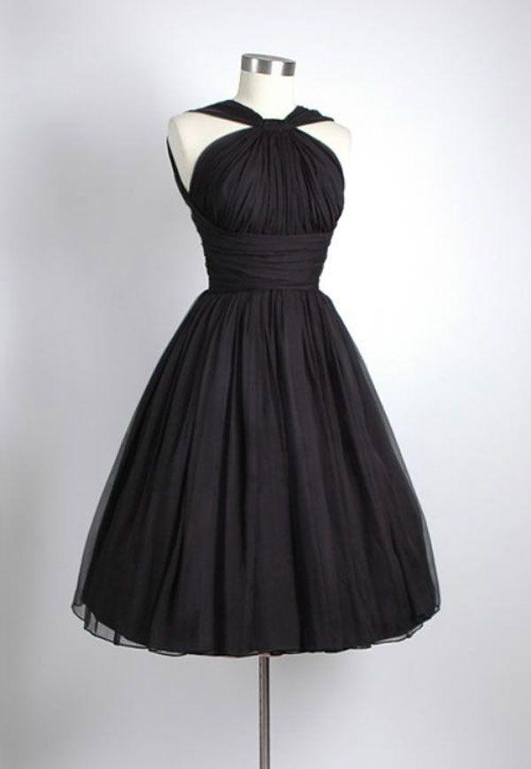 2016 elegante beknopte zwarte korte trouwjurken chiffon een lijn asymmetrische halslijn geplooide geboeid body jurken bruidsjurken