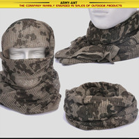 Wholesale Desert Camo Scarf - Gremnay Desert Camo Camouflage Army Military Tactical Hunting Fishing Sniper Mesh Breathable Scarf Wrap Mask Shemagh Veil Scarves Pashmina