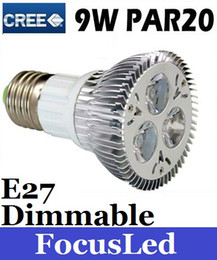 Wholesale Dimmable Warm White 9w - Par20 9W 110V Dimmable Led Spot Light Lamp E27 Warm Cool White Led Bulb Light Energy Saving Light