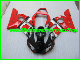 Wholesale Black 99 R6 Fairing Kit - Red gloss black Fairing kit for YAMAHA YZF-R6 YZF R6 98 99 00 01 02 YZFR6 YZF600 1998 2002 Fairing kit