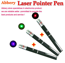 Wholesale Purple Laser Pen - 1mw 5mw Green Red Purple Laser Pointer Pen Beam SOS Mounting Night Hunting teaching each color 50pcs