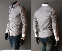 Wholesale Best Slimming Dresses - best selling shirt~Mens Slim UK Luxury Stylish Tuxedo Shirts