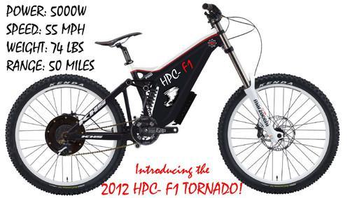 Hpc F1 Tornado Electric 26 Bike Bicycle 5000w Power System Amp