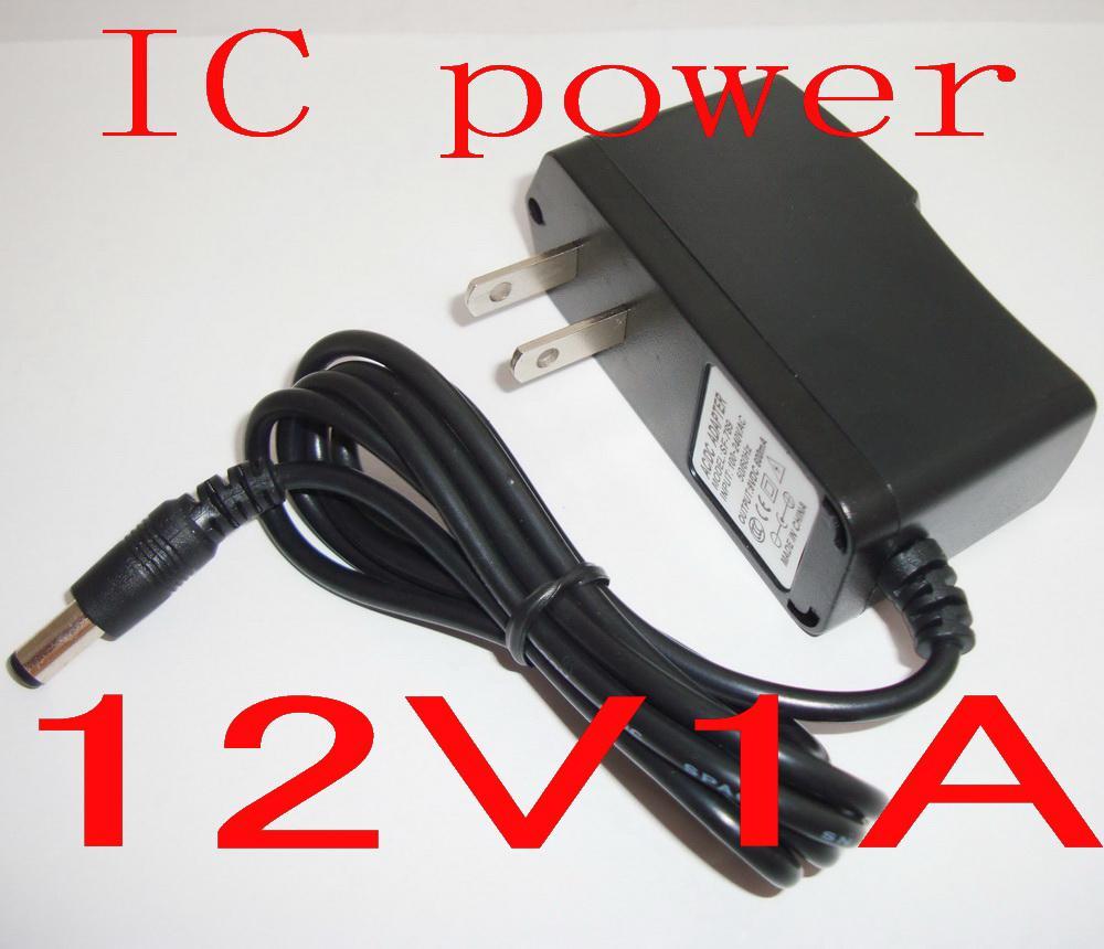 Caricatore adattatore AC / DC 12V 1A / 1000mA di protezione IC Alimentazione telecamera LED CCTV Monitor