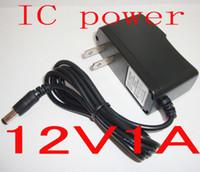 kamera ac adaptörü güç kaynağı toptan satış-50 ADET IC koruma Adaptörü şarj AC / DC 12 V 1A / 1000mA Güç Kaynağı LED CCTV Monitör kamera Için