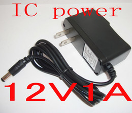 Wholesale Ac Dc Ic - 50PCS IC protection Adapter charger AC DC 12V 1A   1000mA Power Supply For LED CCTV Monitor camera
