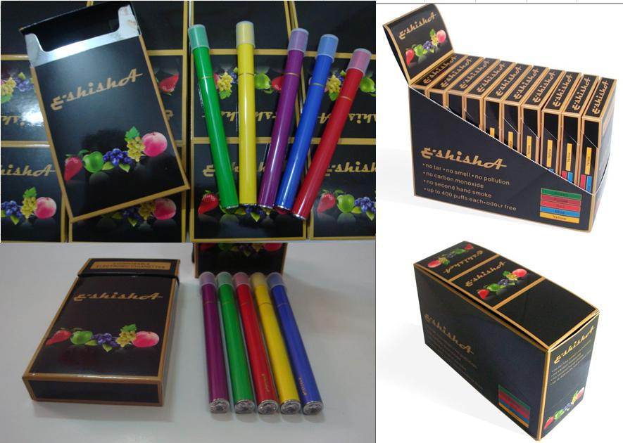 New feeling electronic cigarette e-shisha pens with 5 color painting and 5 different flavors