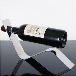 Wholesale Wine Racks Holders - Stainless Steel Arc Wine Racks Holder Bottle Coolers Holders Barware