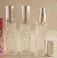 Wholesale Perfume Bottles Atomizer Sprayer - 12ml Empty Clear Perfume Bottles Portable Glass Vials Perfume Atomizer Sprayers Refillable Fragrance Scent Bottle Makeup Containers 10pcs