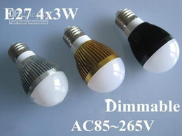 Wholesale Ball Lamp B22 3x3w - High power CREE 9W Led bulb Bulbs 3x3W E27 85-265V LED Lights downlight Ball Lamp Globe bulb
