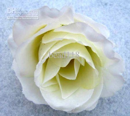 Taille! Fleurs artificielles Milky White Roses de fleur Tête de fleur Fleur Flower Arrangement Silk. Fournitures de fête festive fleur